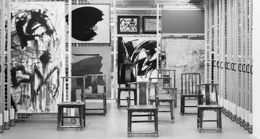 Blick ins Depot der Sammlung Reinhard Ernst